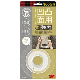 3M Scotch VHB超強力雙面膠帶-凹凸面專用18mm(V1803)