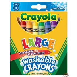 Crayola 8色易清洗臘筆(大支)52-3280
