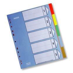 5段塑膠五色分段紙 環保材質  IX901 HFPWP