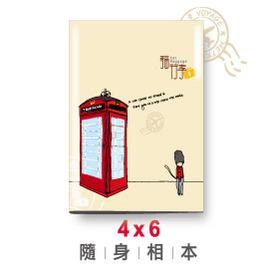 青青文具 貓行李系列 4X6 隨身相本(電話亭) PA-234