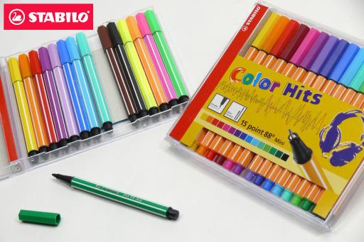 STABILO鵝牌 point 88 mini迷你經典款式細字彩色簽字筆 (0.4mm) 15色CD盒裝 688