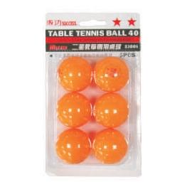 成功 二星教學專用桌球-6入乒乓球 S3005