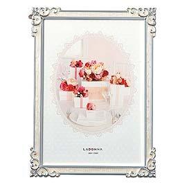 【筆坊】Ladonna Bridal系列 古典花邊4x6金屬相框 (MJ63-P-WH)