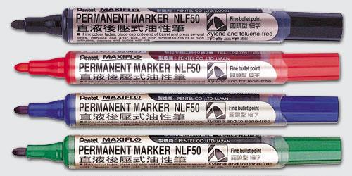 PENTEL NLF50直液後壓式油性筆(圓頭)