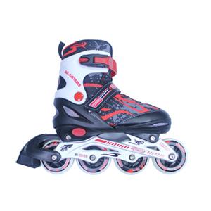 成功 鋁合金伸縮溜冰鞋組-紅黑色(休閒教學專用)直排輪/健身運動(S0420) 附贈輕巧背袋【無法超商取貨】