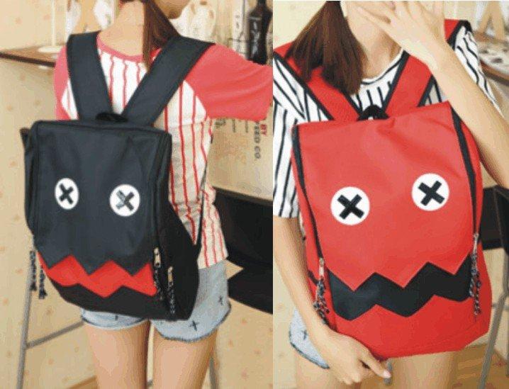 【鬼臉搞怪後背包】 韓版流行後背包 學院風旅行包 書包  時尚玩包
