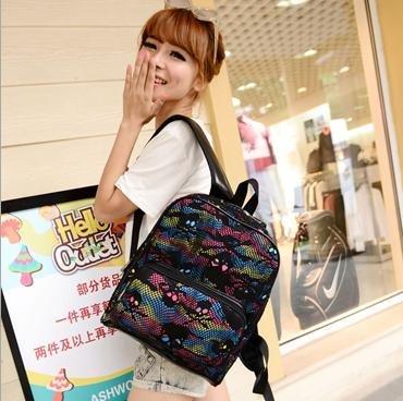 【骷髏頭造型後背包】 韓版流行後背包 學院風旅行包 書包  時尚玩包
