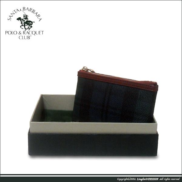 【Santa Barbara Polo聖大保羅】綠格紋零錢包(大)SB38-03807