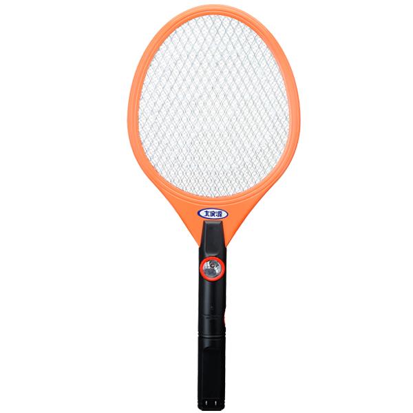 【大家源】三層充電式LED照明電蚊拍。橘色/TCY-6103