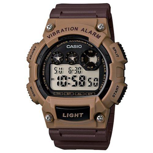 CASIO G-SHOCK W-735H-5A數位10年電力腕錶/咖啡47mm