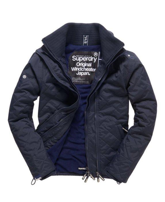 [男款] 英國代購 極度乾燥 Superdry Quilted Arctic Windcheater 男士 絎縫防風衣夾克 海軍藍