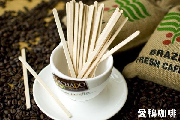 《愛鴨咖啡》原木咖啡 攪拌棒 木柄調棒 14cm每支單獨包裝 50支/包