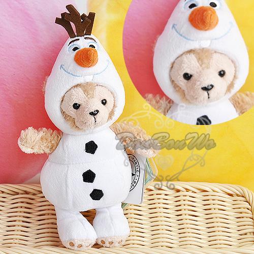 迪士尼duffy玩偶絨毛娃娃雪寶造型吊飾031168海渡
