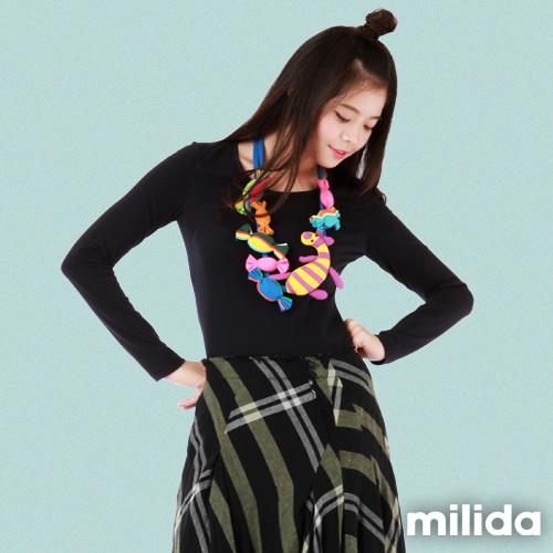 【Milida,全店七折免運】-單品特輯-合身款-圓領素色T恤