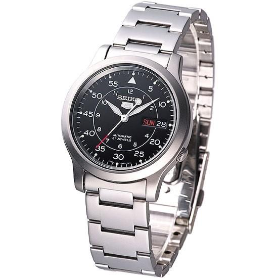 【錶飾精品】SEIKO手錶 精工錶 盾牌5號 黑面 夜光 星期日期 機械錶 SNK809K1 全新原廠正品 情人生日禮物