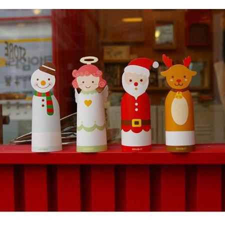 可愛聖誕卡片 Merry Christmas 聖誕老人 雪人 麋鹿 禮物 Xmas 卡片 聖誕節 交換禮物【B062409】