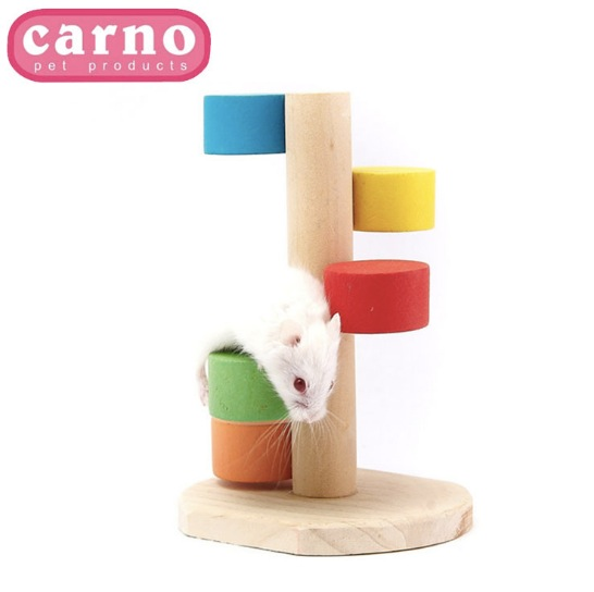 【小樂寵】Carno木造七彩雲梯玩具-倉鼠