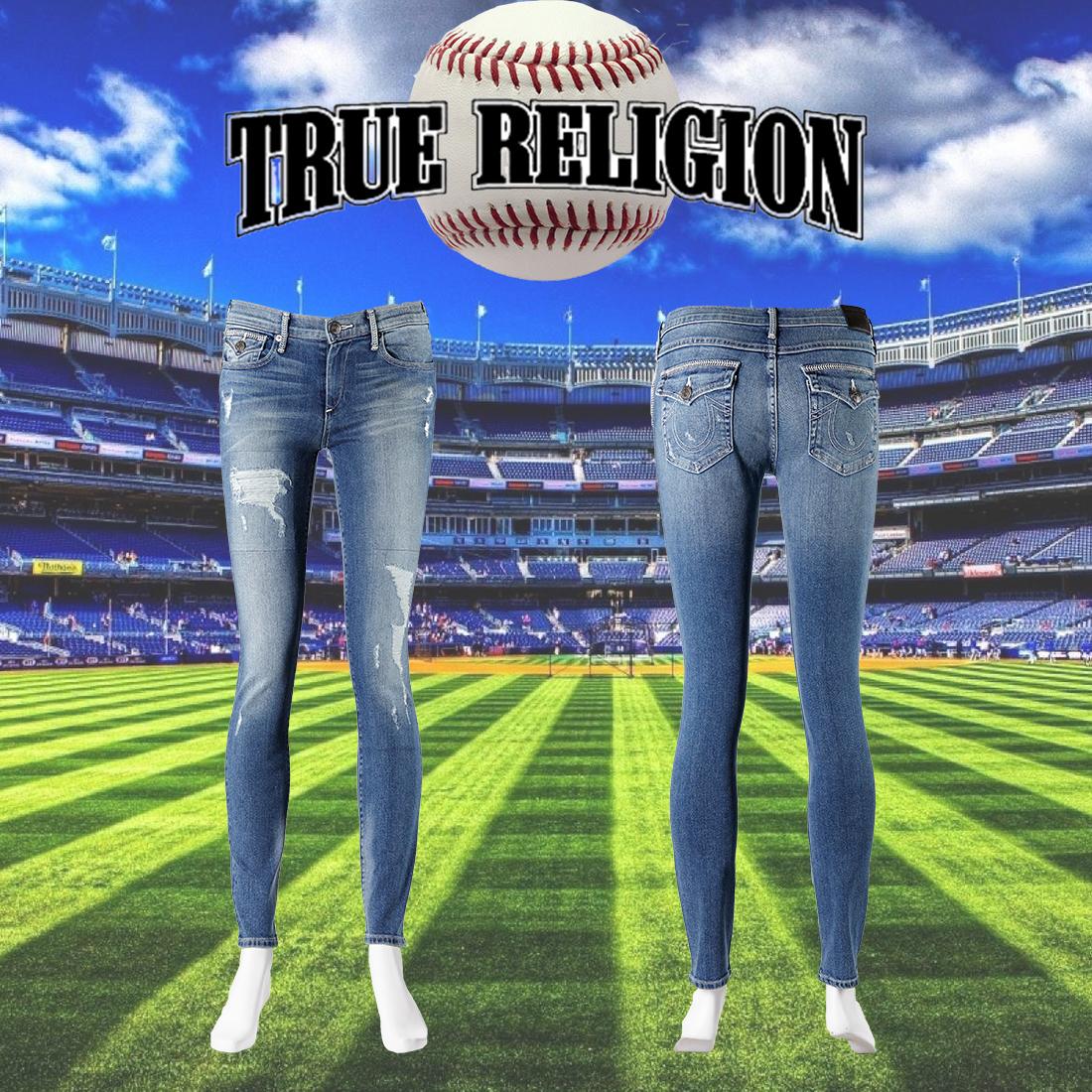TRUE RELIGION Halle Baseball Stitched 系列 手工刷破 極窄管牛仔褲 美國製造進口 現貨供應【美國好褲】