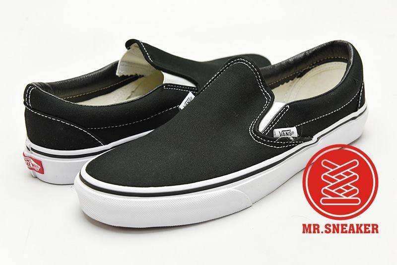 ☆Mr.Sneaker☆ VANS Classic Slip-On 經典/復古 休閒/滑板/懶人鞋 帆布 黑/黑白 男款/女款