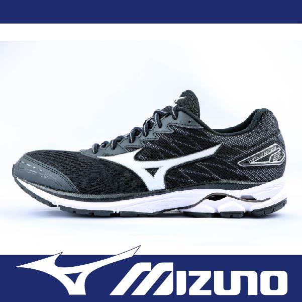 萬特戶外運種動 MIZUNO美津濃 J1GC170301 男慢跑鞋 WAVE RIDER 20 耐磨大底 舒適 吸震 黑色