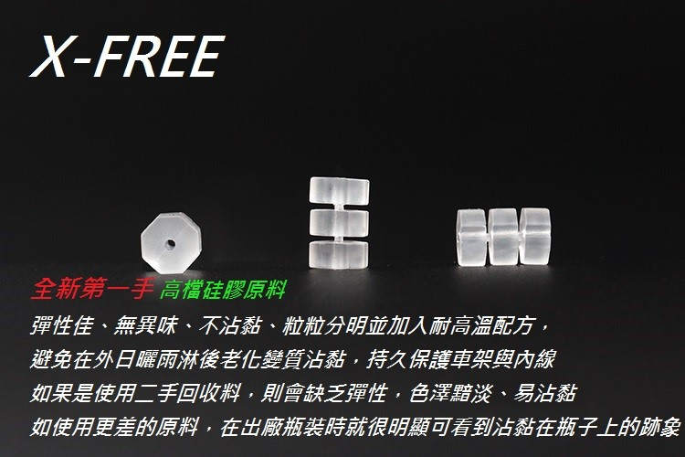 【意生】X-FREE剎車線、變速線共用款 八角O型環 透明白 避免內線作動時去摩擦倒車架而造成掉漆 煞車線 自行車