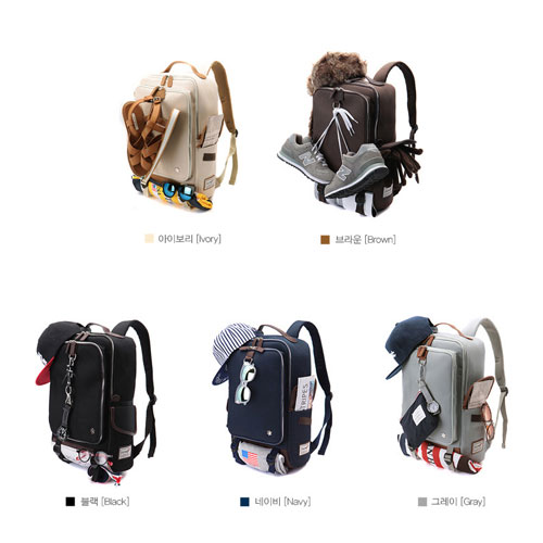 【韓國品牌代購】防潑水多功能15吋大容量筆電背包