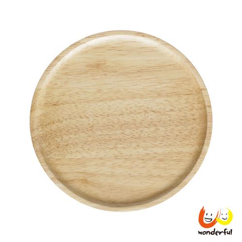 ACACIA 圓形木製餐盤原木色(大)