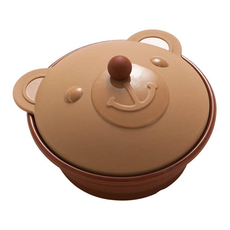 IZAWA 矽膠蒸氣調理鍋 調皮小熊