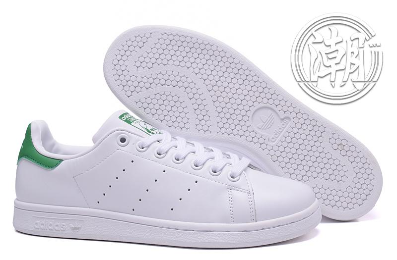 Adidas Stan Smith 街頭經典 愛迪達 史密斯 綠色 綠尾 復古百搭 男女 情侶鞋 休閒鞋【T0026】潮