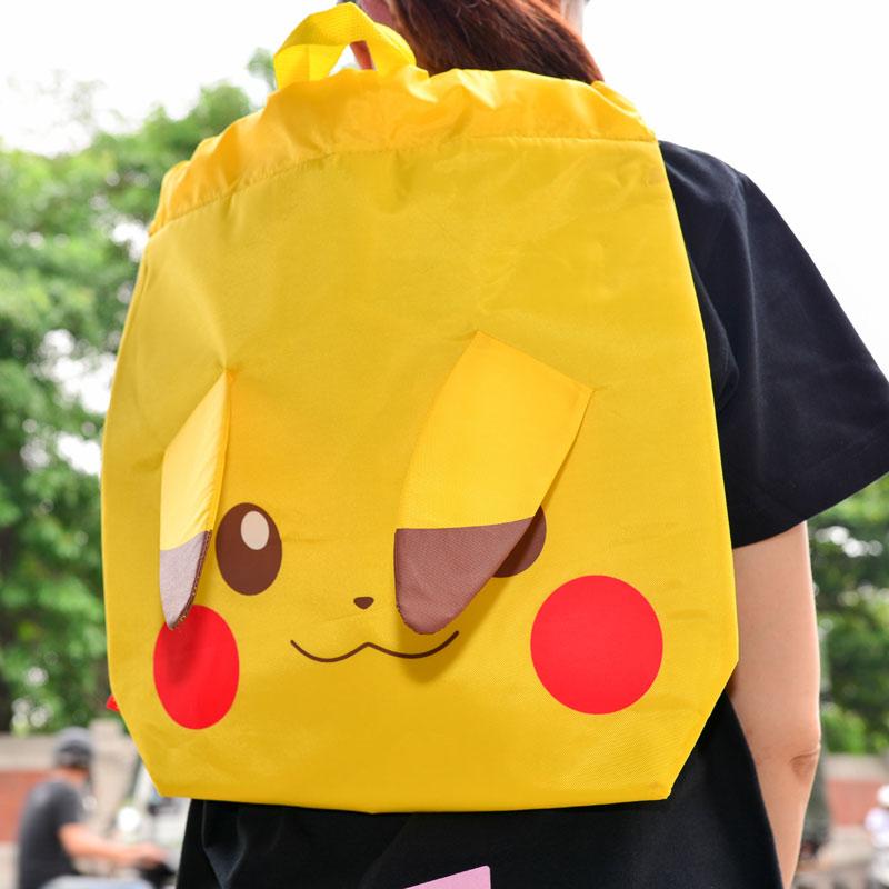 精靈寶可夢GO 皮卡丘 大後背包 手提袋 防潑水 日本帶回正版商品