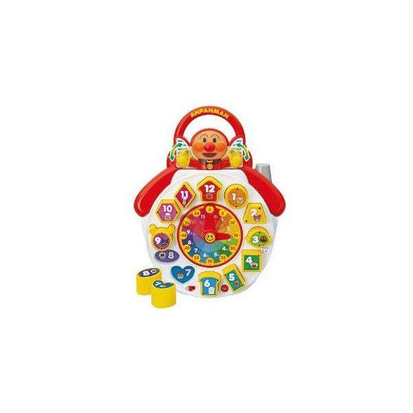 日本直送 Anpanman 麵包超人 兒童玩具 益智音樂教材 時鐘 腦力發展教育