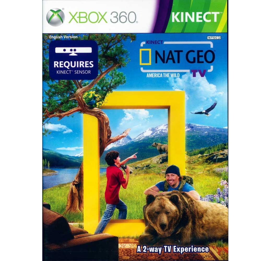 (全新包裝破損)XBOX360 Kinect 國家地理頻道 NAT GEO TV 英文美版