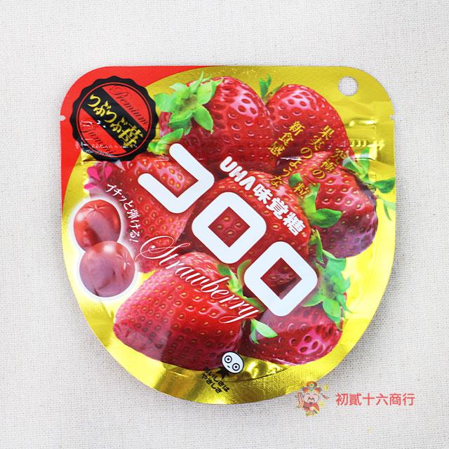 【0216零食會社】日本UHA味覺糖-Kororo草莓軟糖40g
