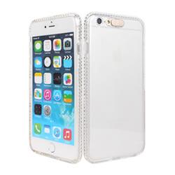 "Ultimate- iPhone 6 Plus (5.5"")  清新 全透 透明 全邊晶鑽閃燈全軟質手機保護套 背蓋 手機殼 TPU清水套 保護殼 透明軟殼"