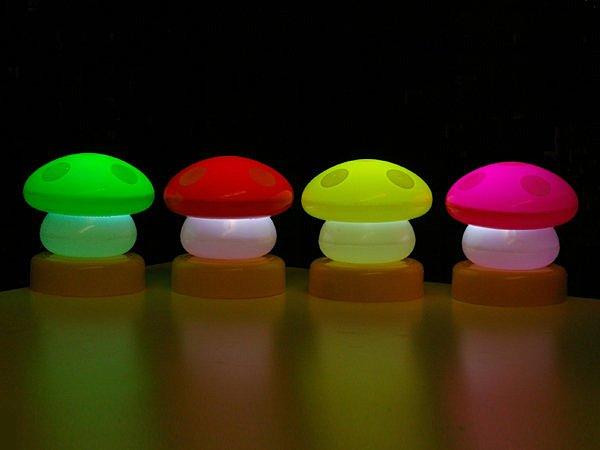 BO雜貨【SV3922】浪漫磨菇燈 LED燈 小夜燈 戶外燈 露營螢光小夜燈 夜遊 營火晚會