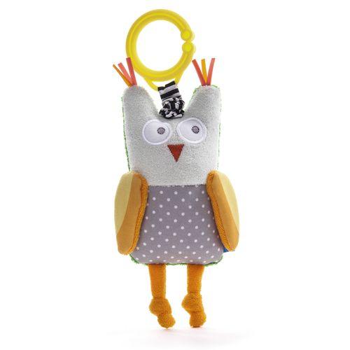 ★衛立兒生活館★TAF Toys 手感發展系列-貓頭鷹奧比(手搖鈴)