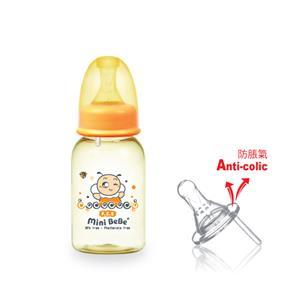 【蜜妮寶貝嬰童用品館】PES防脹氣標準奶瓶 (容量: 140ml/4oz 顏色: 橘/綠)