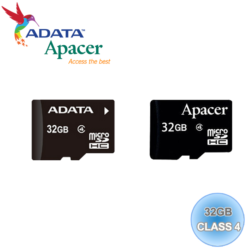 ADATA 威剛/Apacer Micro SD/T-Flash 32G/TF 32GB/CLASS 4 記憶卡 隨機廠牌出貨