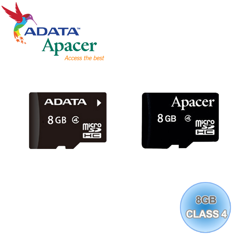 ADATA 威剛/Apacer Micro SD/T-Flash 8G/TF 8GB/Class 4 記憶卡 隨機廠牌出貨