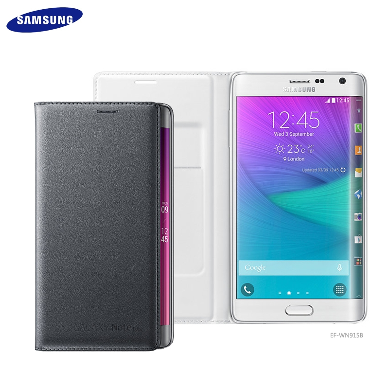 SAMSUNG GALAXY Note Edge N9150/N915G 原廠側掀感應皮套/智能感應晶片保護套/電池蓋皮套/背蓋保護殼/休眠保護套