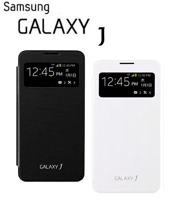 SAMSUNG GALAXY J SC-02F N075T S View 原廠透視感應皮套/原廠皮套/保護套/東訊公司貨