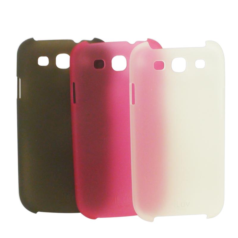 iLuv 原廠授權認證 Samsung Galaxy S3 i9300 磨砂 透明 保護殼/磨砂背蓋/保護套/外殼/硬殼/彩殼