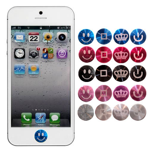 APPLE iPhone/iPad 彩色鋁鎂合金雷雕/按鍵貼/返回鍵貼/Home鍵/快速黏貼/安全保護/防汙/金屬雷雕/貼紙/金屬螺紋/細緻紋路/獨特風格/iPhone 6/Plus/5s