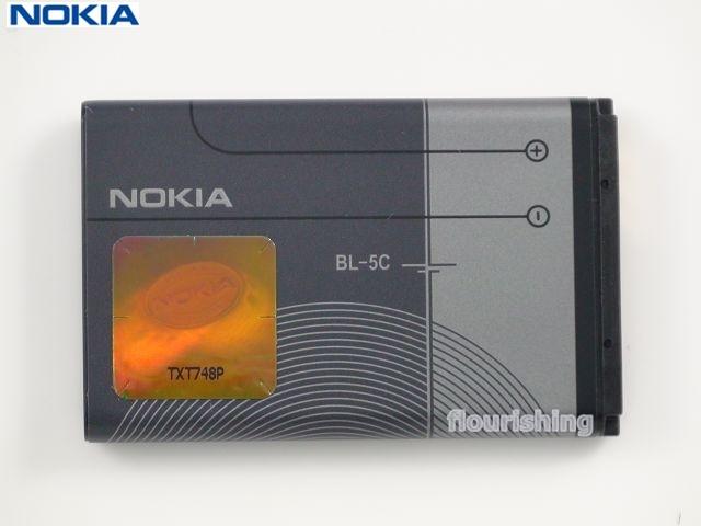 NOKIA 原廠電池【BL-5C】E50/E60/N70/N71/N72/N91/INO CP10/6670/6680/6820/7600/7610C1-01/C2-01