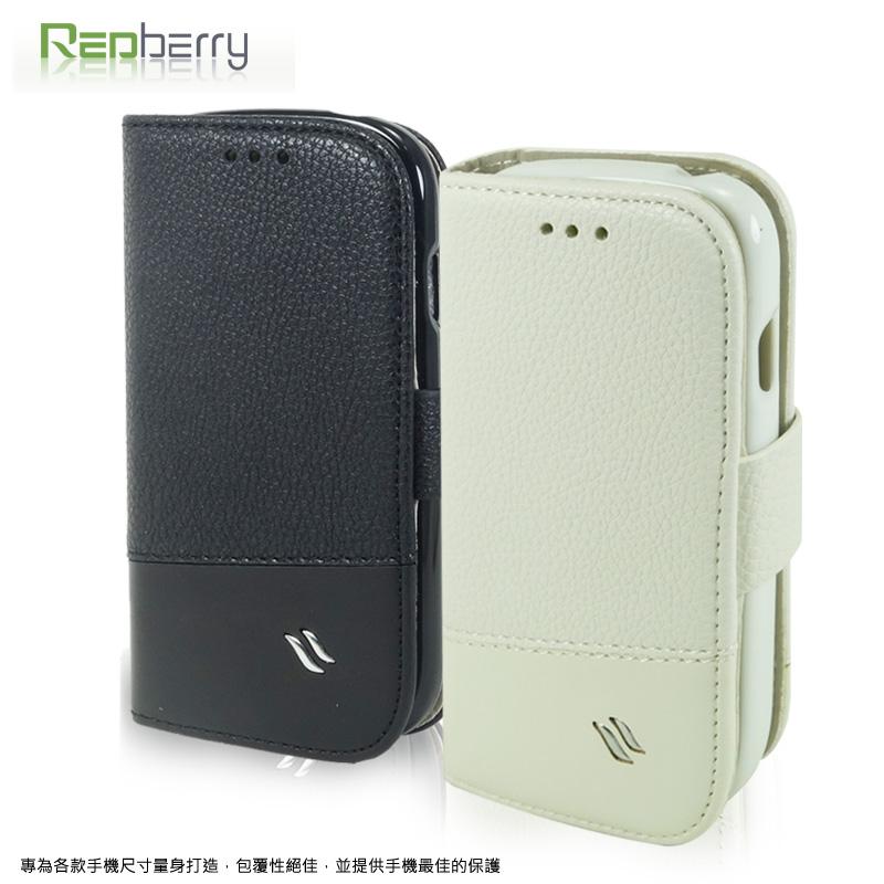 SAMSUNG GALAXY S3 Mini i8190 雙料縫線 側掀立架式皮套/保護套/磁扣式皮套/手機套
