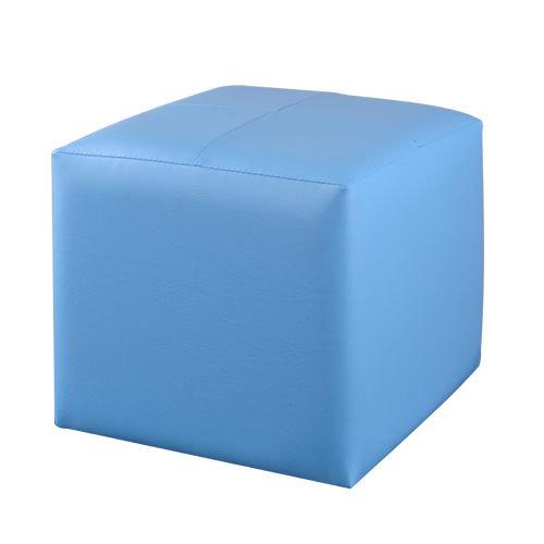 生活大發現-(藍)亮彩四方椅/皮沙發/和室椅/腳凳/矮凳沙發/單人沙發/台灣製造/八色可選