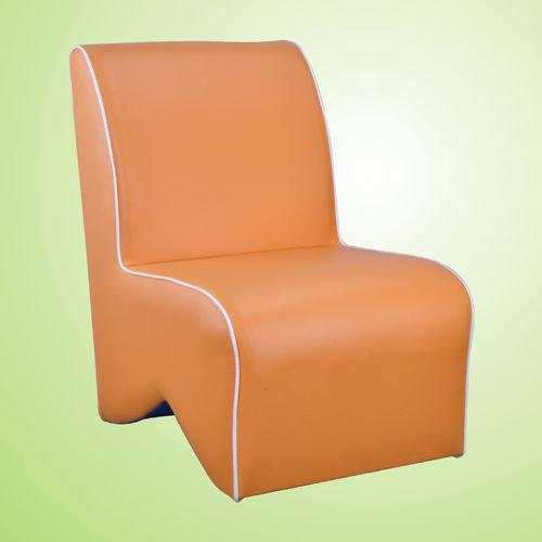 生活大發現-莎菲大造型椅(橘)/單人沙發/沙發矮凳/皮沙發