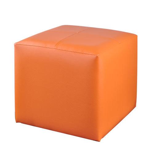 生活大發現-亮彩四方椅八色可選(橘) 單人沙發/和室椅/腳凳/沙發矮凳/台灣製造