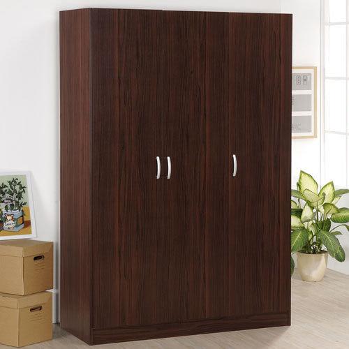 生活大發現-DIY家具-胡桃木色三門衣櫥(此為胡桃木下標區)/衣櫃/櫥櫃
