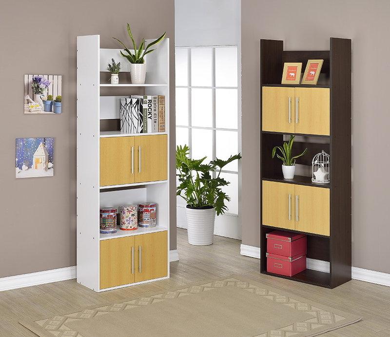 生活大發現~DIY家具-五層雙門展示架/書櫃/書架/高低櫃